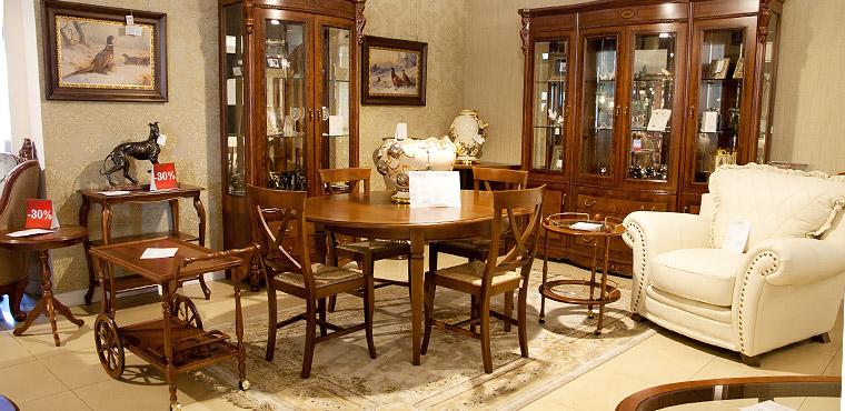 Мебель для гостиной в магазине
