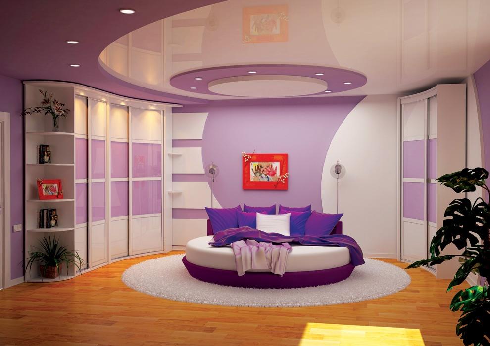 Дизайн спальни полукруглой формы
