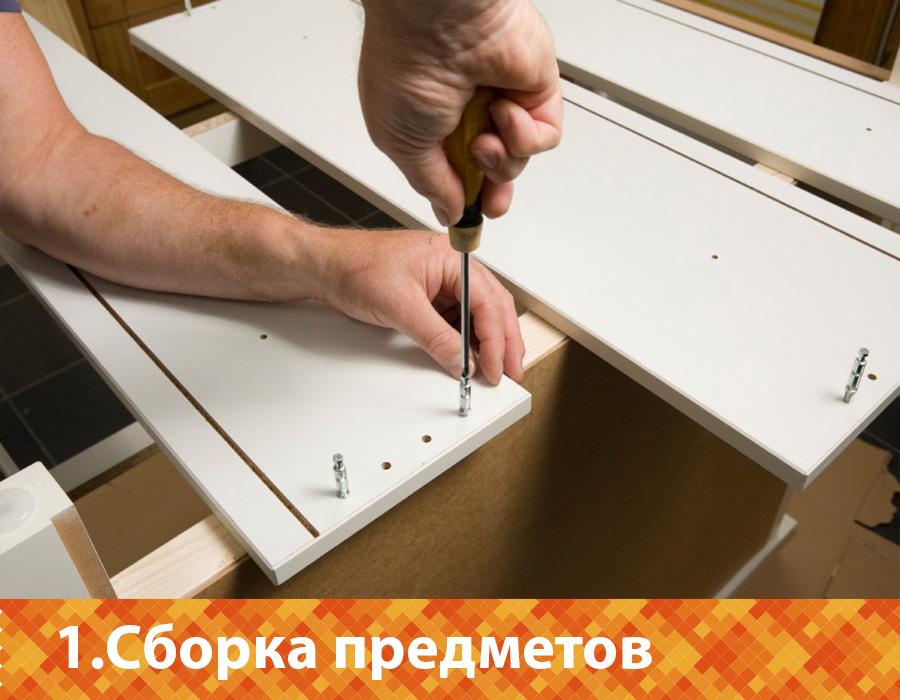 Самостоятельная сборка модулей кухонного гарнитура