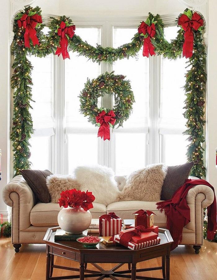 Декоративный интерьер к Новому году
