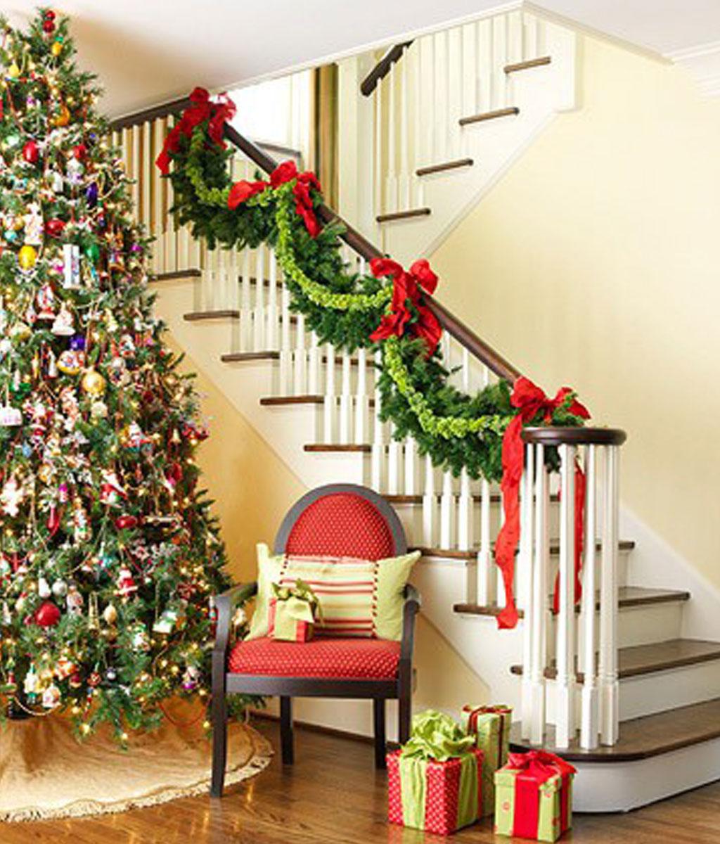 Интерьер дома к Новому году