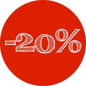 Скидка 20% на индивидуальные кухни и шкафы купе в МебельОК