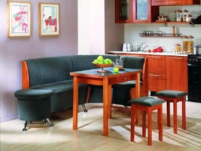 Кухонный уголок позволяет собраться всей семье вместе