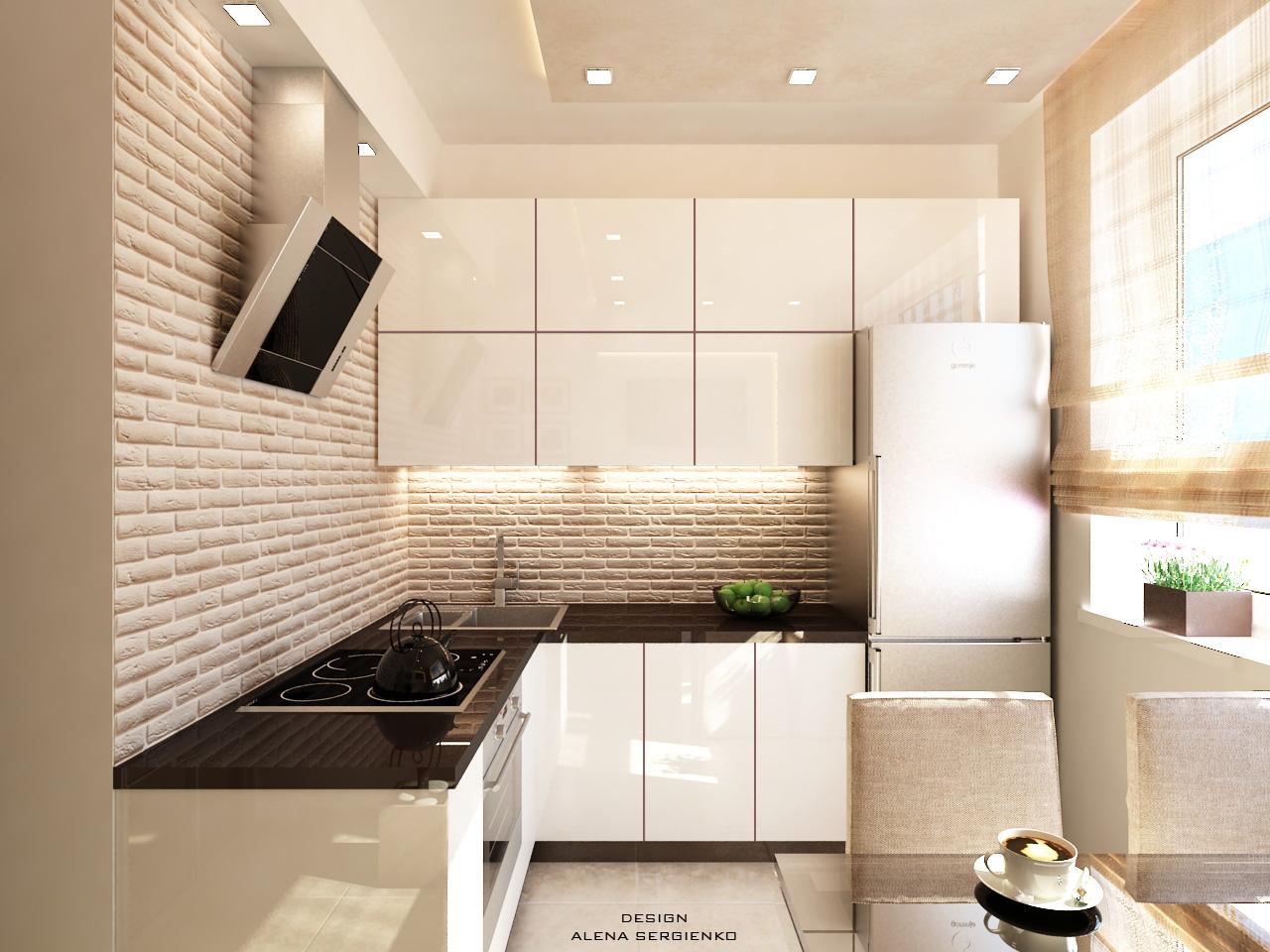 Светлая кухня - результат работы дизайнера
