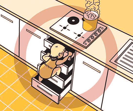 Ящики в кухонном гарнитуре