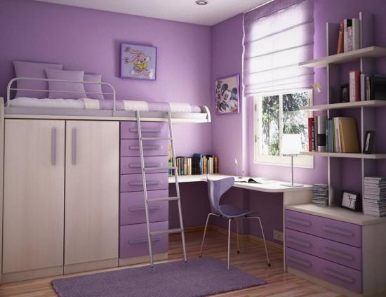 Фиолетовый цвет в детской комнате