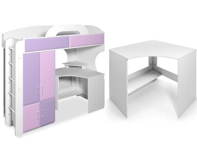 кровать двухъярусная со столом