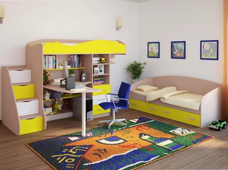 Мебель спальни двоих детей