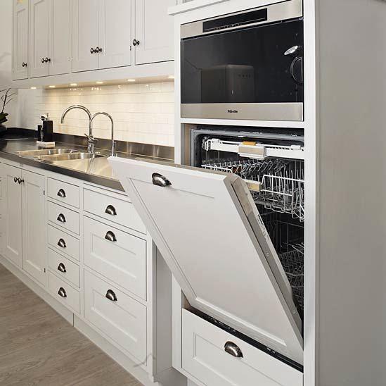 Встроенная посудомоечная машина на современной кухне