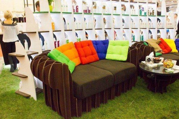 Картонный диван Футуфу
