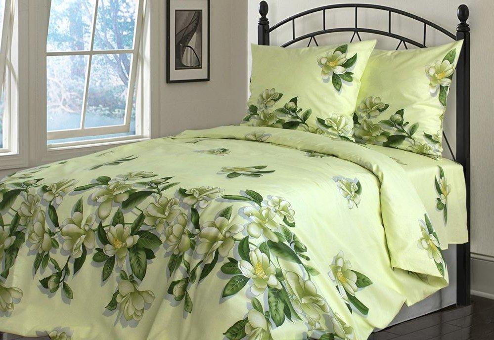 Спальный набор зеленого цвета