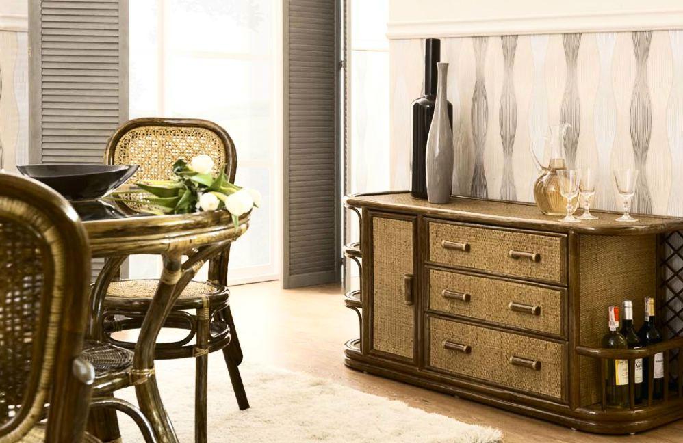 Ротанговая мебель в гостиной