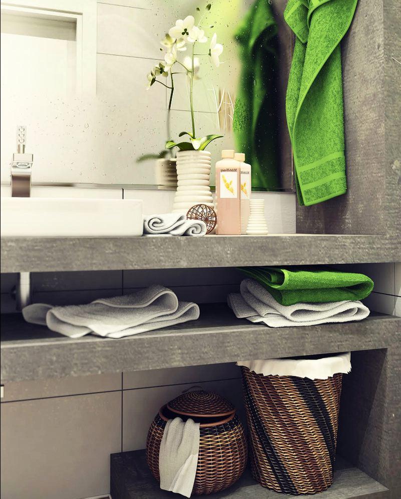 Бельевые корзины в ванной