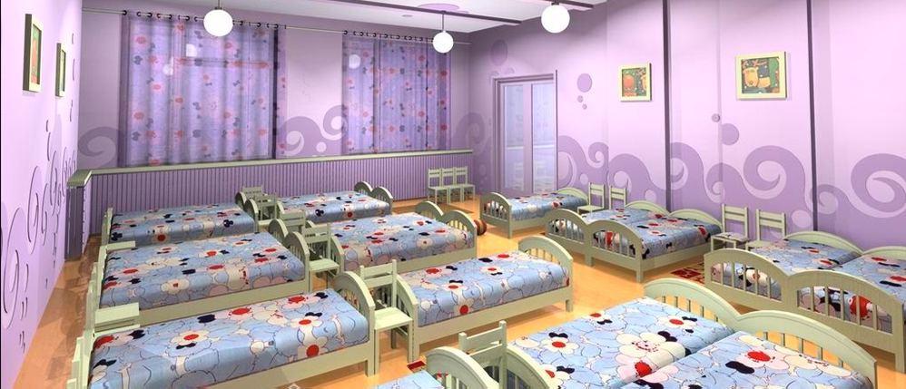 Детские кроватки в дошкольном учреждении
