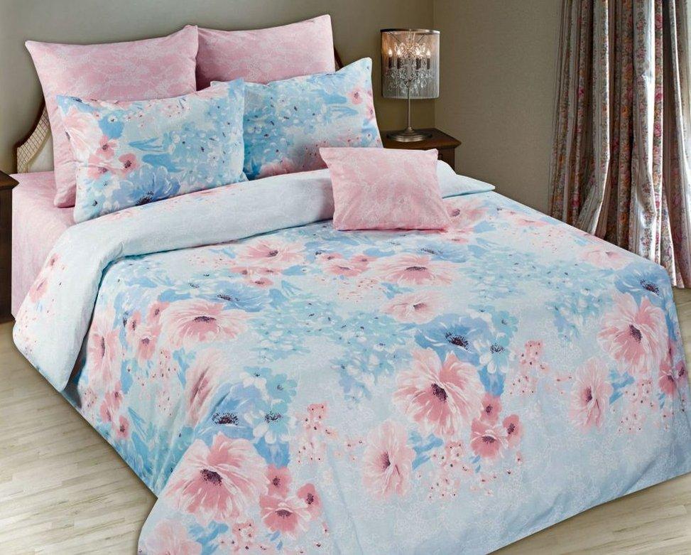 Постельное белье розово-голубое
