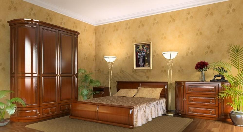 Интерьер спальни с мебелью Радо