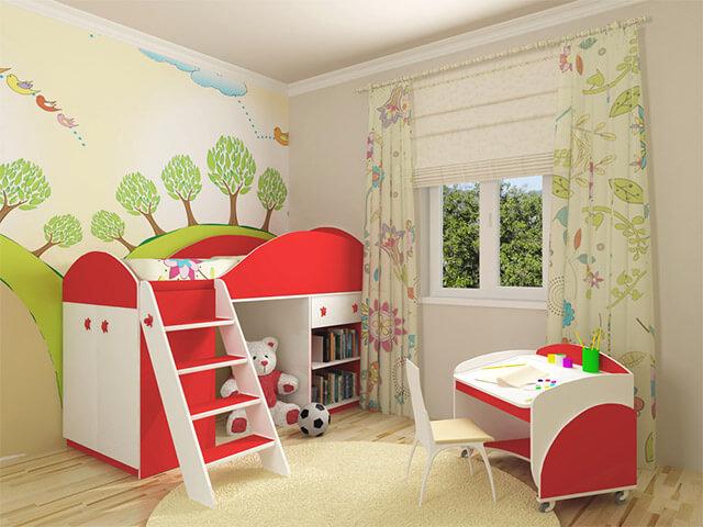 Яркая мебель для детской комнаты