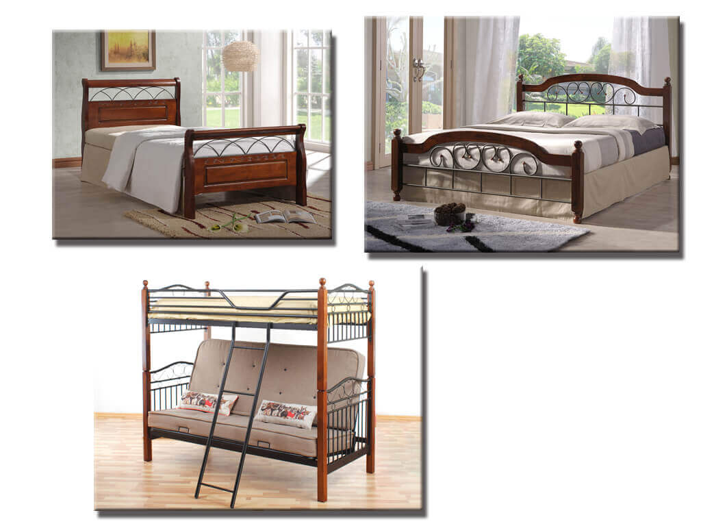 Деревянные кровати из гевеи