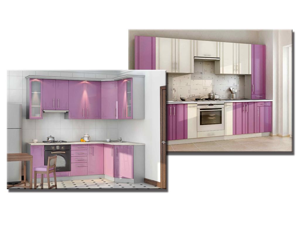 Кухни фиолетового цвета