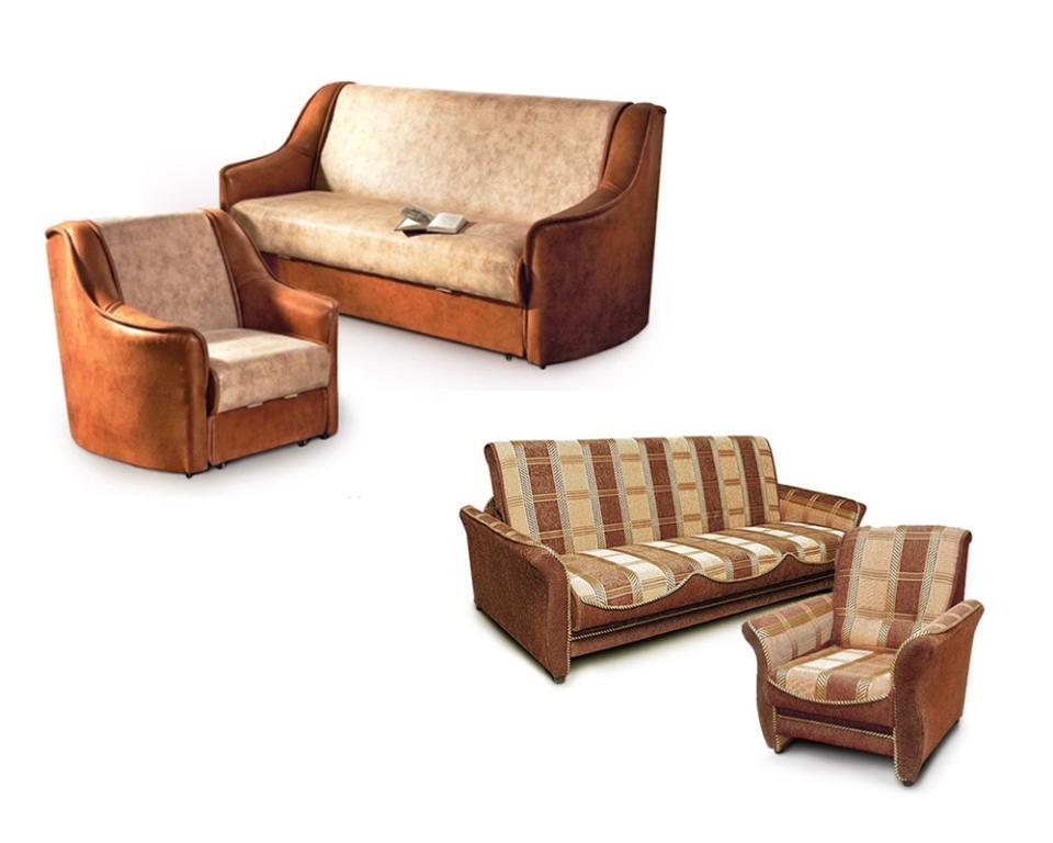 Купить комплект мягкой мебели диван и два кресла в москве
