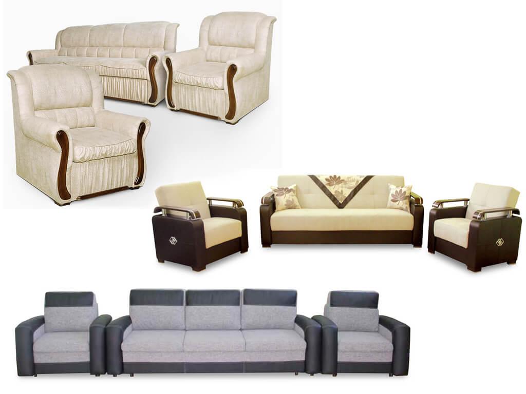 диван прямой и 2 кресла