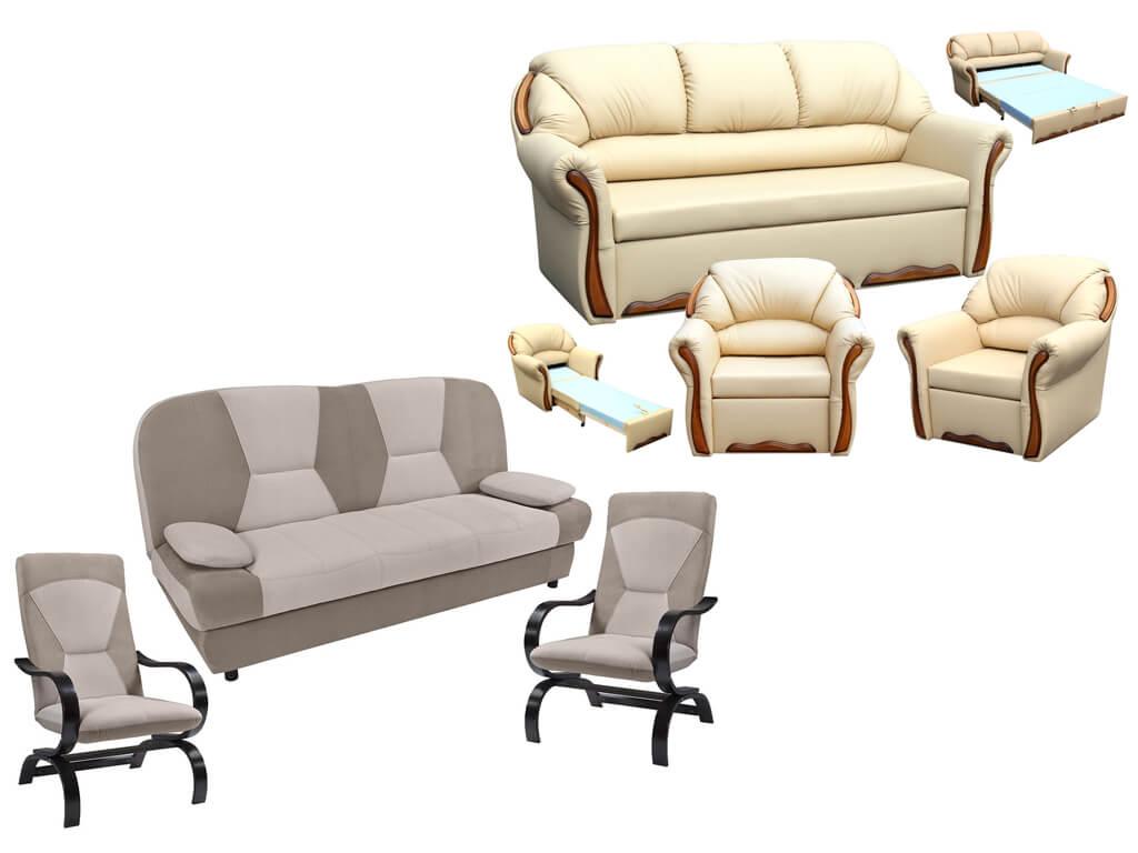 купить диван прямой и 2 кресла