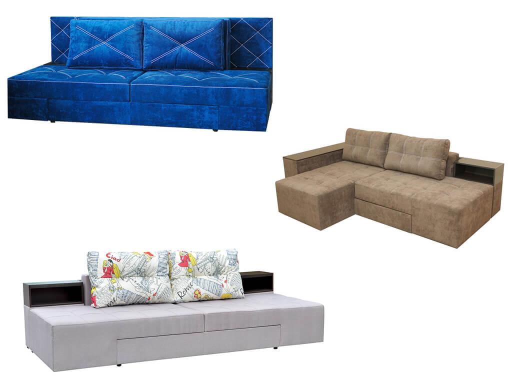 Мягкие поворотные диваны-кровати