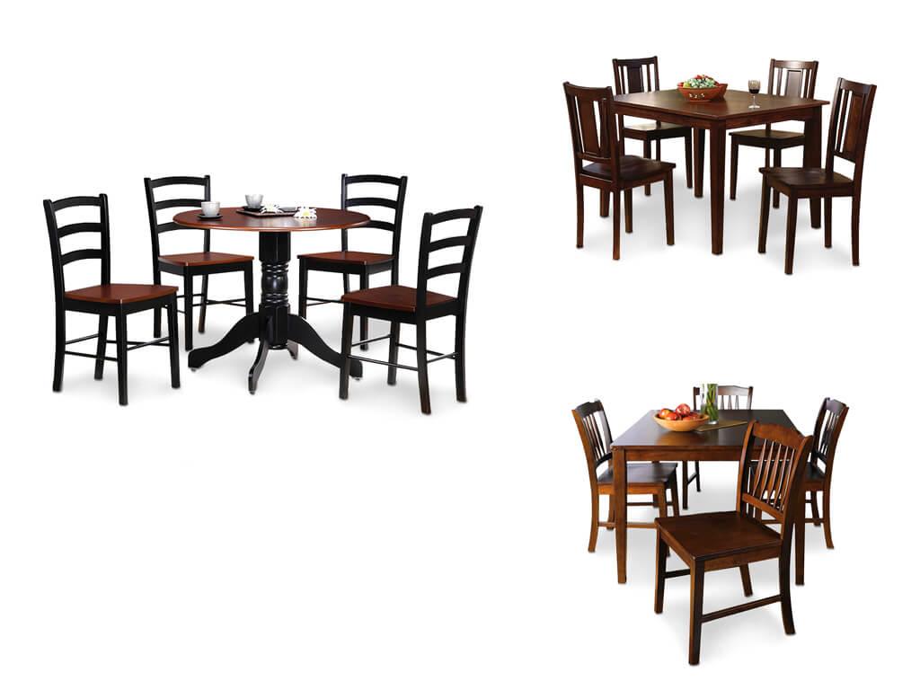 Комплекты столов и стульев коричневого цвета