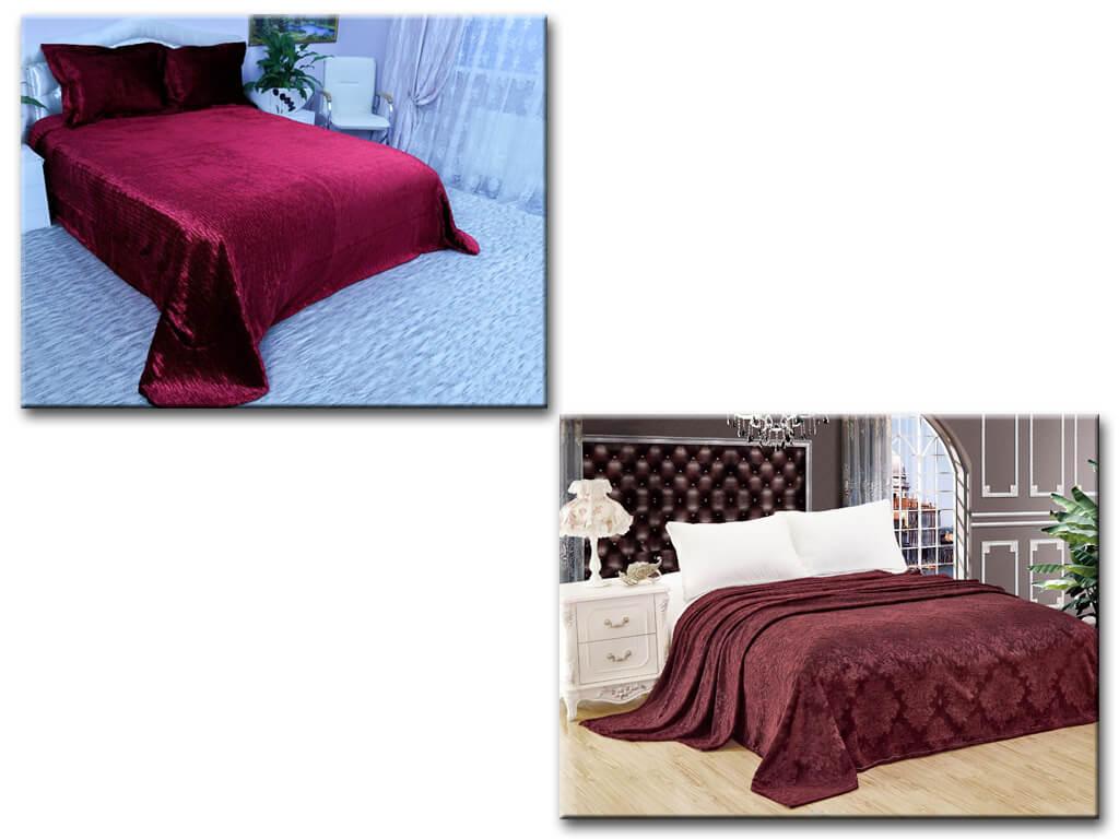 Бордовое покрывало на кровать