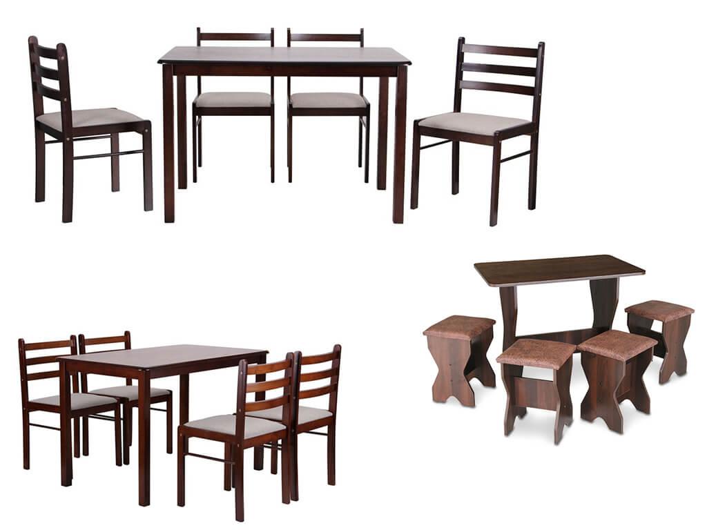 Комплекты кухонной мебели- стол и стулья