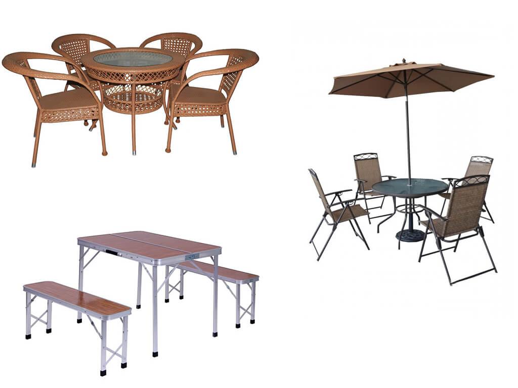 Комплект садовой мебели:столь со стульями