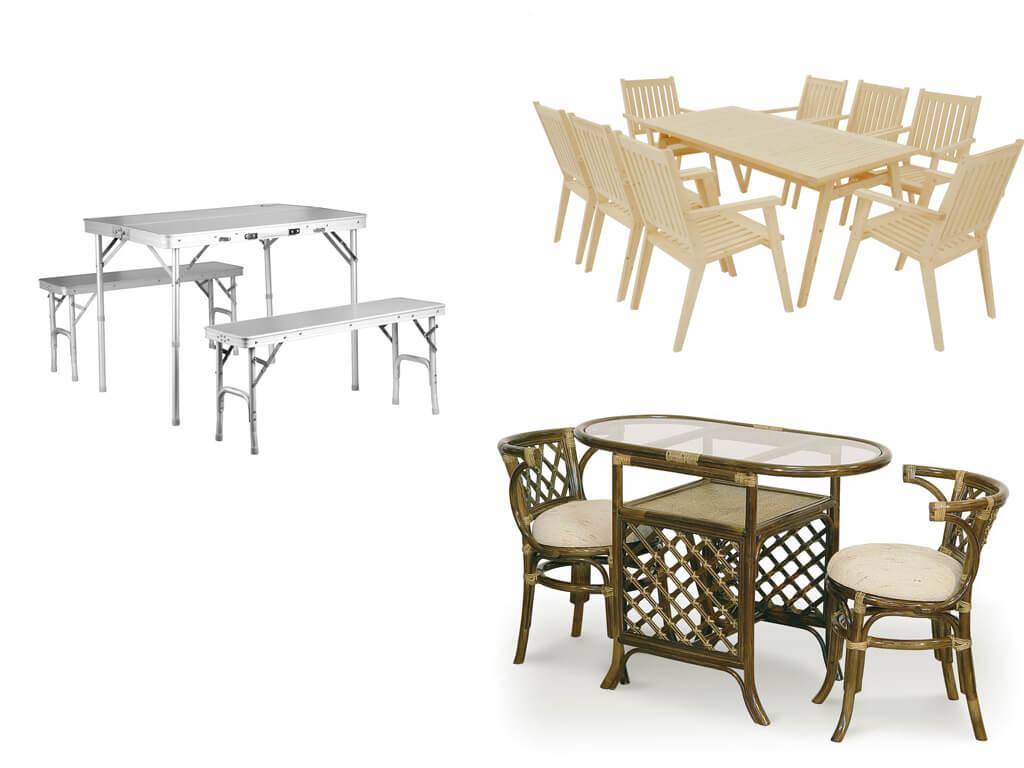 Стол со стульями для сада