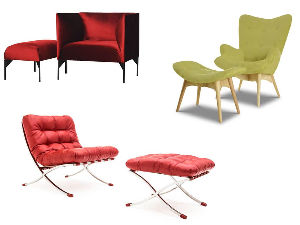 Комплект мебели кресло с пуфом