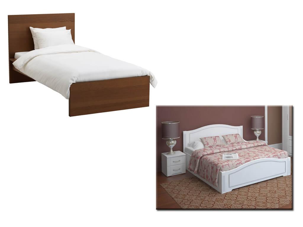 Одно и двуспальные кровати на заказ в Днепре