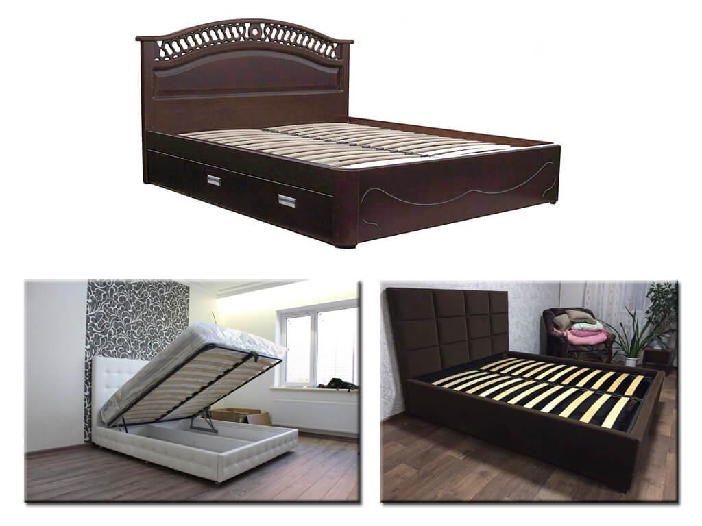 Кровати с ламелями на заказ в Днепре