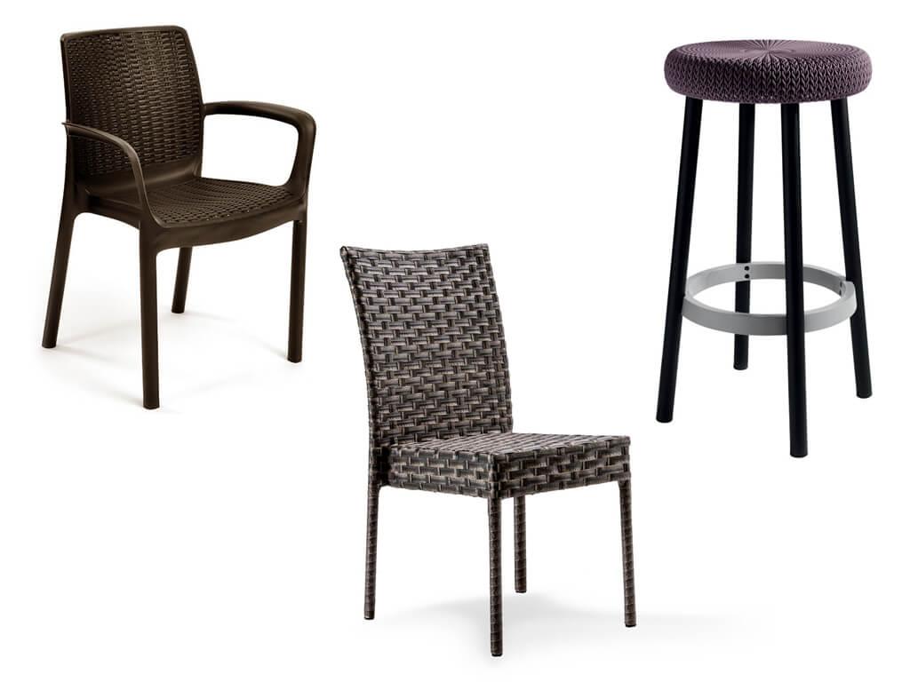 Плетенные стулья из ротанга