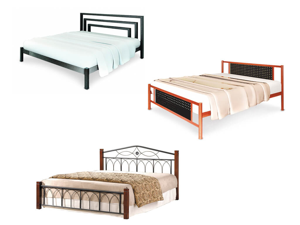 Двухспальные металлические Техностиль ПРО кровати
