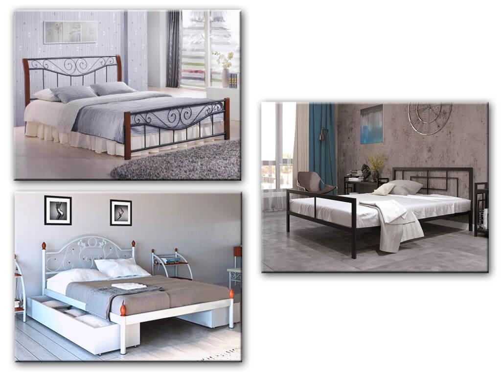 Двухспальные кровати из метала