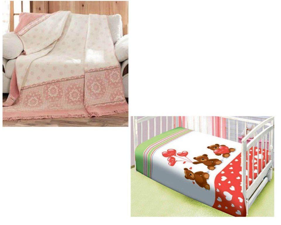 Пледы для мебели и кроваток