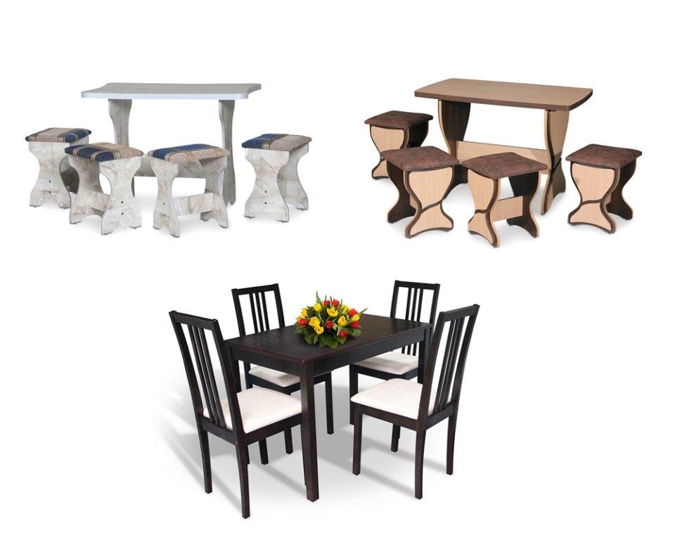 Комплекты столов и стульев для кухни