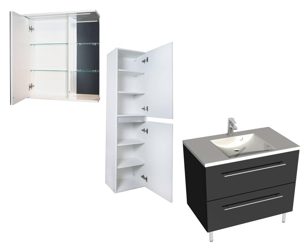 Тумбы, шкафчики и пеналы в ванную