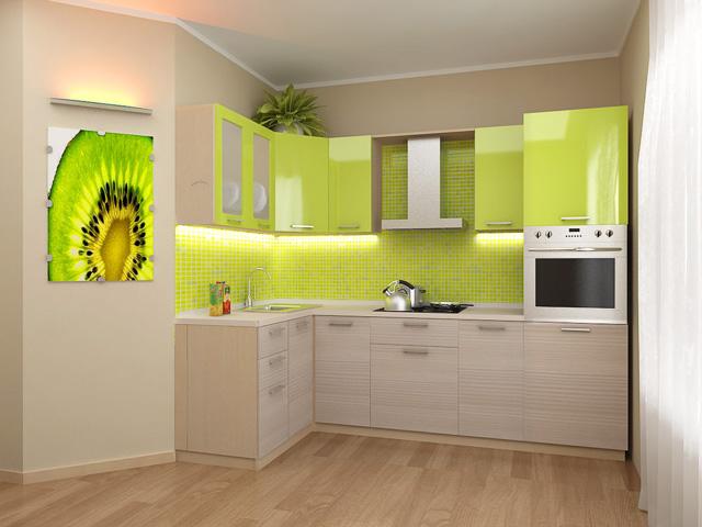 Кухня желтого и пастельного цветов