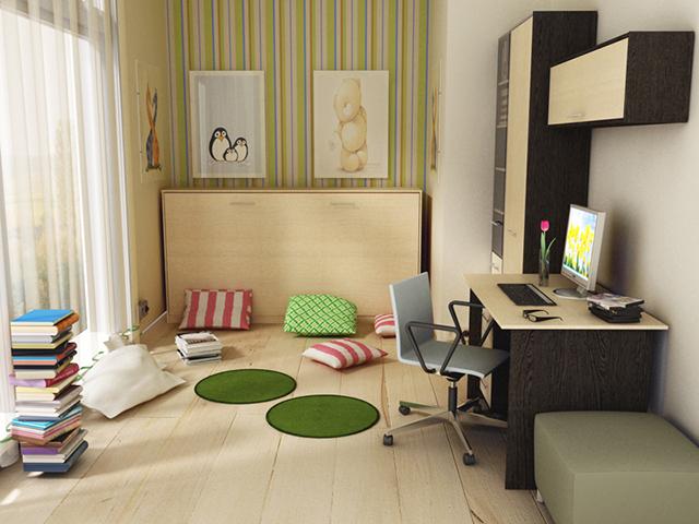 Кровать-трансформер Алиса в интерьере подростковой комнаты