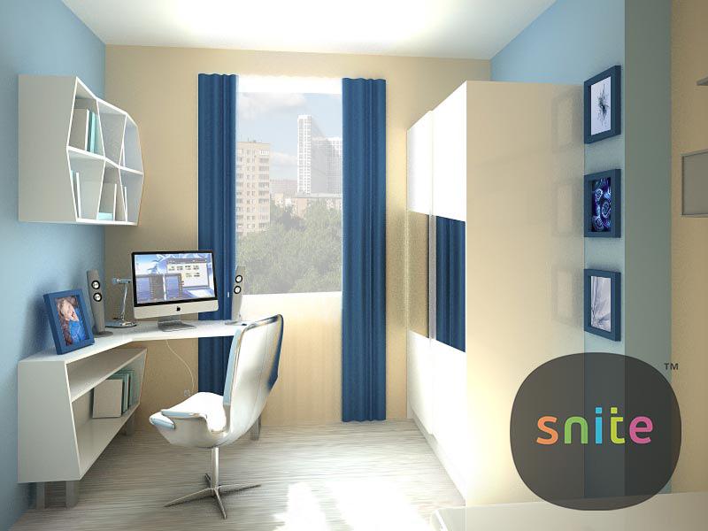 Комплект мебели для подростковой комнаты Иллюзия восприятия