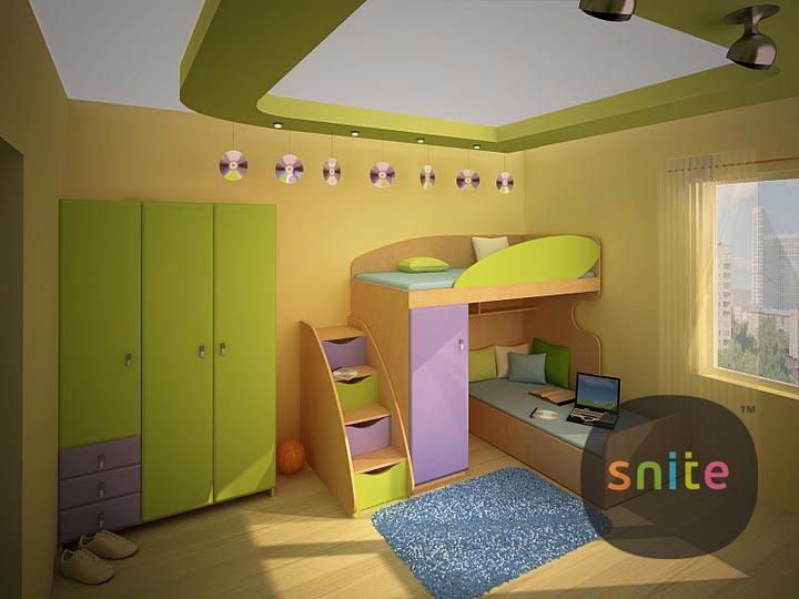 Л-класс - детская модульная мебель из ДСП и МДФ с двухэтажной кроватью