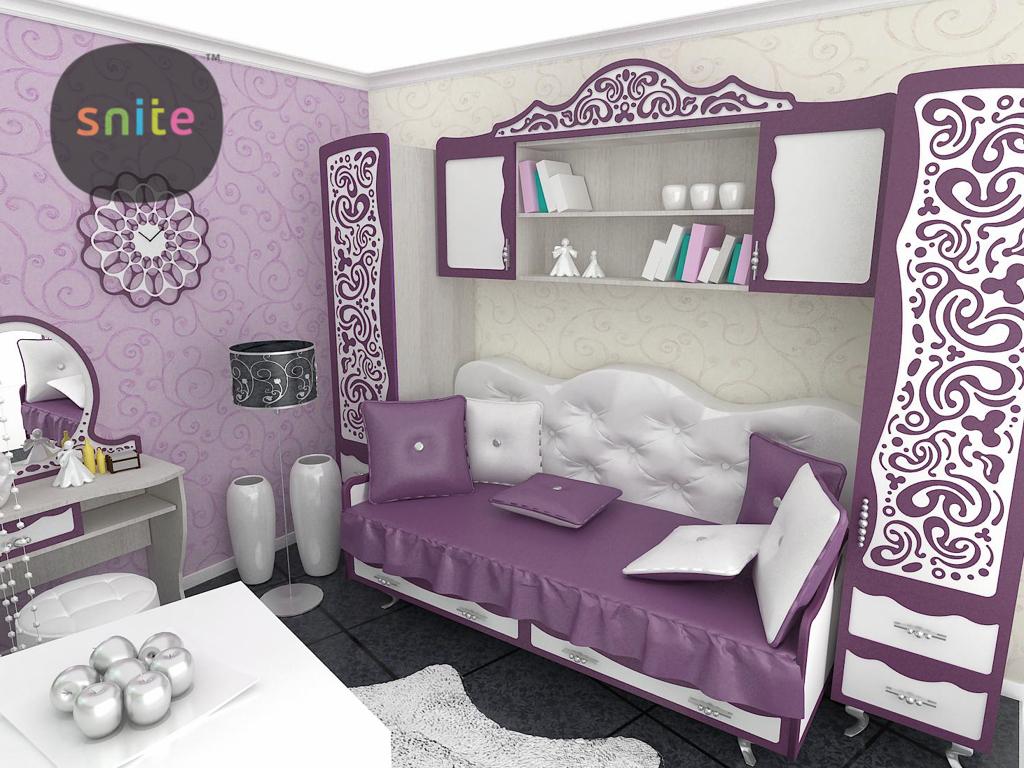 Детская комната Ажур ТМ Снайт в стиле арт-деко