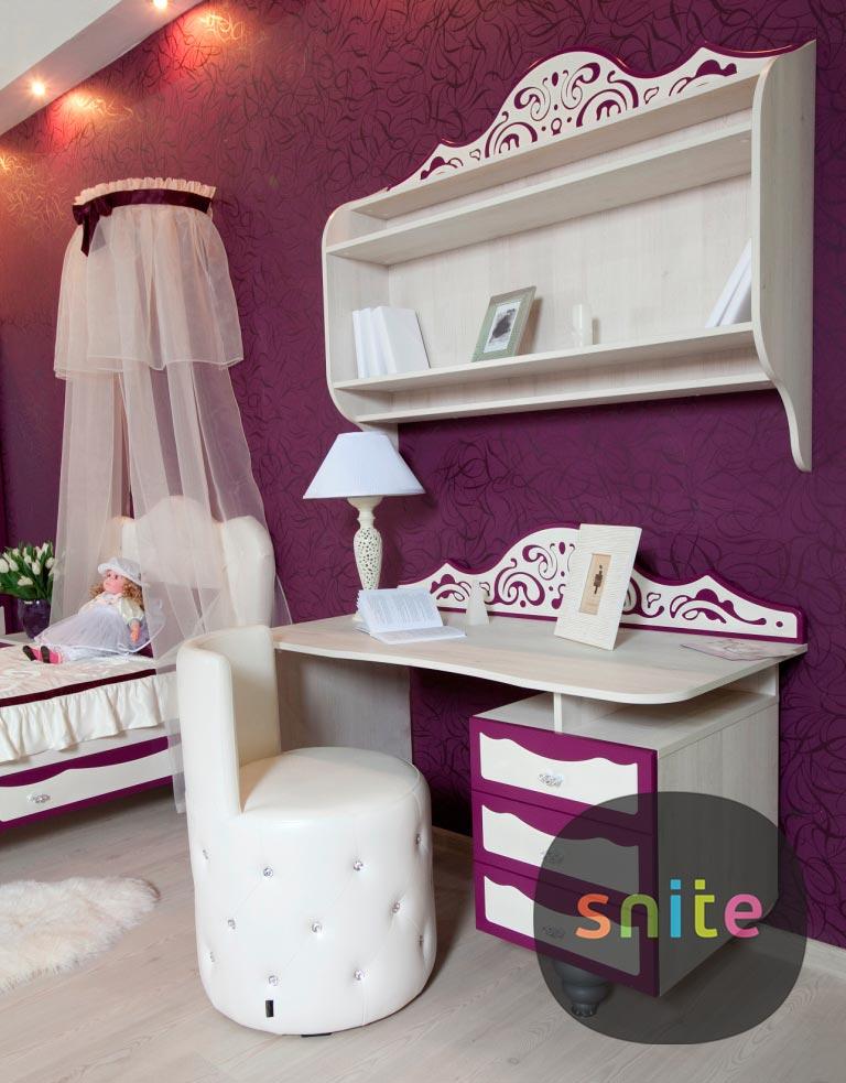 Туалетный столик со стульчиком Ажур ТМ Snite
