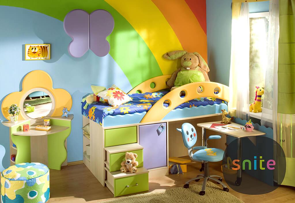 Мебельный комплект Городок радуга