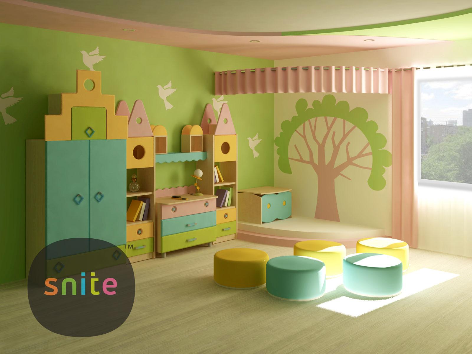 Детская мебельная система Городок ТМ Снайт для садика